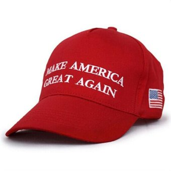 LALANG Fashion Men Baseball Cap Letter Printed Sun Hat 2# (Red) - intl