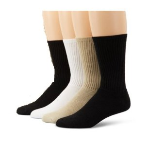 Bộ 4 đôi tất nam Dockers Men's 4 Pack Cushioned Quarter Socks