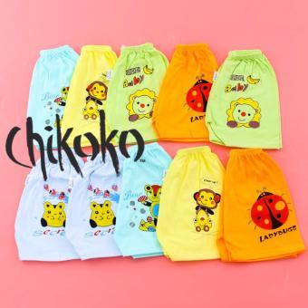 Combo 10 quần đùi bé gái cotton in hình CHIKOKO -CH45