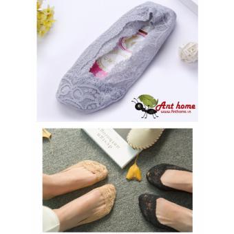 Tất (Vớ) ren dùng cho mùa xuân và mùa hè vải cotton thoáng mát (ghi sáng)