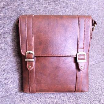 Túi đeo chéo nam da PU cao cấp TD02 (Da bò sẫm)