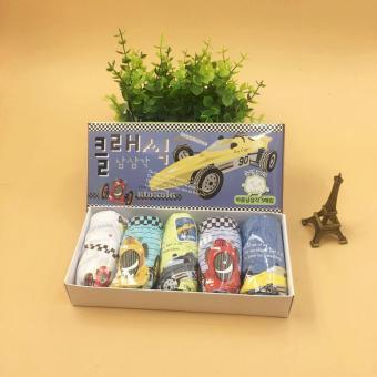 Set 5 quần lót Hàn Quốc cho bé trai Mr Kids Classic Car