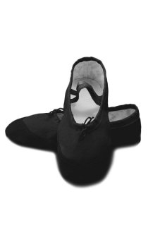 HKS Women Adult Canvas Ballet Dance Shoes Slippers Pointe Dance Gymnastics Soft Sole Black (US 5 / EU 36 / 22cm) - intl