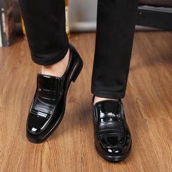 Giày tây nam đế mềm kiểu xỏ Rozalo RM8035B - Đen