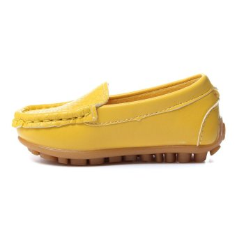 Children Shoes PU Leather Sneakers For Boys And Girls Boat Shoes Slip On Soft Sole Casual Flats - Intl