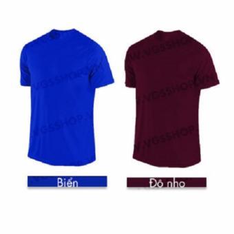 Bộ 2 áo thun LAKA A1218 (Xanh Biển + Đô Nho)