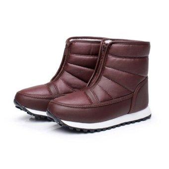 New Women Men Unisex Winter Snow Ski Boots Waterproof Rubber Sole Warm Shoes - intl