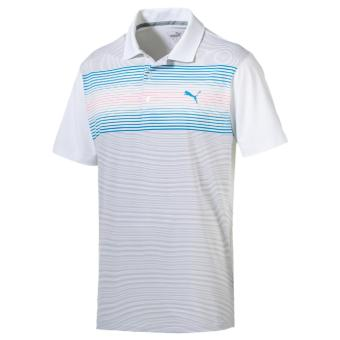Áo golf nam ngắn tay PUMA Highlight Stripe Polo