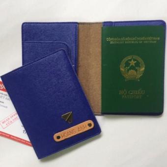 Bao Da Hộ Chiếu Passport Cover Abu90 PC09 (Xanh Navy)