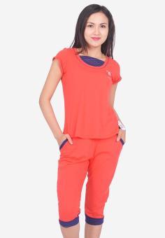 Bộ Đồ Mặc Nhà Nữ Narsis M6012 Màu Hồng Cam