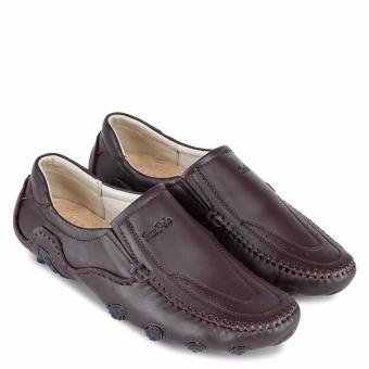 Giày Mọi Da Bò Cao Cấp SunPoLo (Nâu)