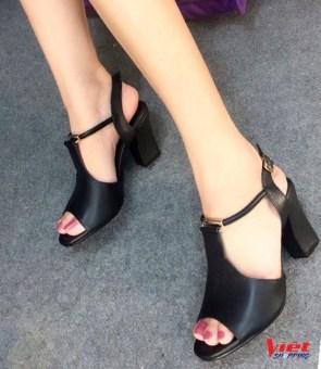 Giày cao gót hở mũi Siêu thị Gia Đình CG016 (Đen).