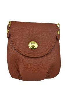 HKS Women Handbag Messenger Bag Small Mini Casual Travel Satchel Purses (Brown) - intl