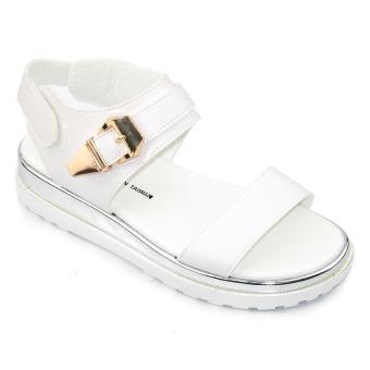Giày xăng đan nữ Om Fashion 6612 (Trắng)