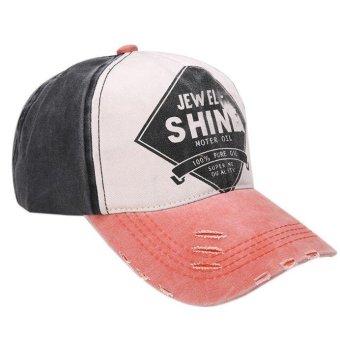 Unisex Cotton Twill Snapback Colorful Baseball cap Orange