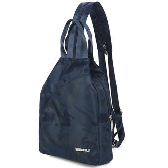Fashion Unisex Casual Travel Satchel Shoulder Backpack BU - intl
