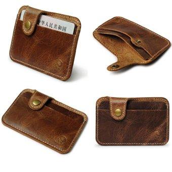 Fashion Money Clip Slim Credit Card ID Holder Wallet Money Cash Holder brown - intl