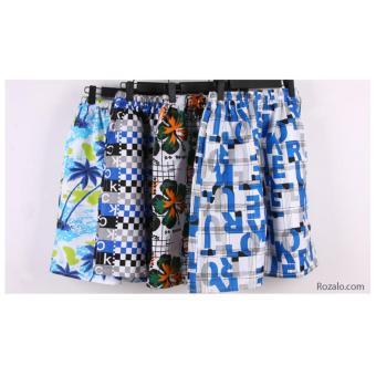 Bộ 4 quần short hoa nam ROZALO RMQ26301 - Màu ngẫu nhiên