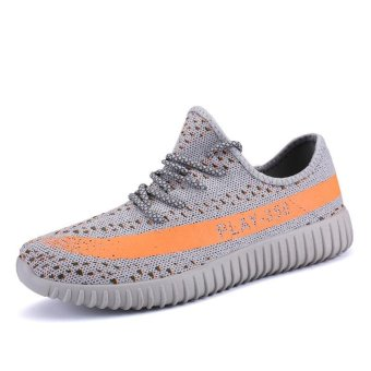 2017 Coconut Casual Couple Shoes Net Surface Shoes Breathable Flat Shoes - intl