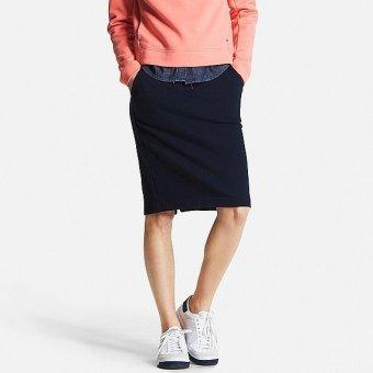 Chân váy nỉ UNIQLO size M Navy