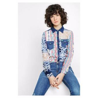 Áo Sơ Mi Nữ Thêu Ren Desigual Shirt Mauricia 72C2EH71000