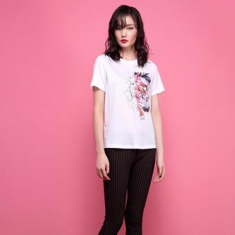 Áo T-Shirt In Hình 4491 BRADA & MAXI (Trắng)