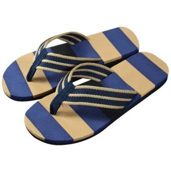Men Summer Stripe Flip Flops Shoes Sandals Male Slipper Flip-flops - intl