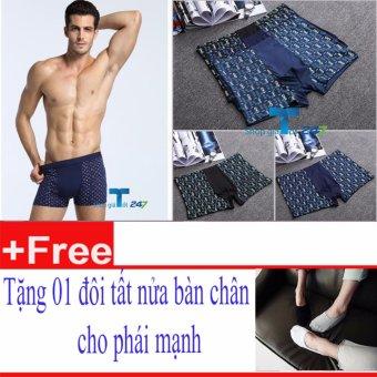 Bộ 5 Quần Boxer This Men+ Tặng 01 Đôi Tất Nửa Bàn Cho Nam