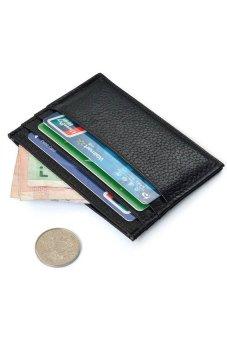 HKS Slim Credit Card Holder Mini Wallet ID Case Purse Bag Pouch Black - intl