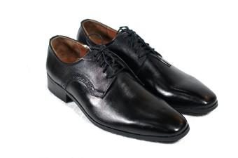 Giày tây cột dây mũi vuông Tathanium Footwear (Đen)