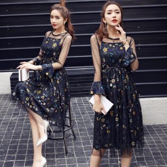 Váy Ren Hoa Hai Dây Công Chúa Siêu Đẹp