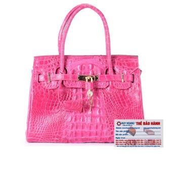 HL6221 - Túi xách nữ da cá sấu Huy Hoàng cao cấp màu hồng