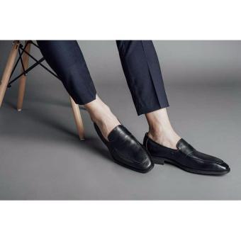 Giày lười nam Laforce da bò viền chỉ GNLA486-26M-D