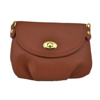 Women Handbag Messenger Bag Small Mini Casual Travel Satchel Purses (Brown)