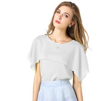 Áo kiểu nữ trơn tay loe cánh tiên cổ tròn đơn giản thời trang công sở dạo phố Urban Horizon FM0041 (Trắng)