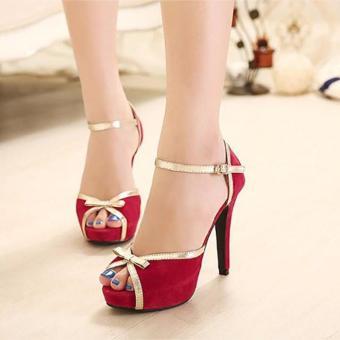 Giày cao gót hở mũi nơ nhỏ - LN104