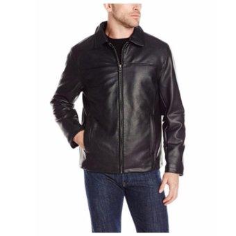 Áo Khoác Da Nam Đen Cole Haan Signature Men's FauxLeather Jacket