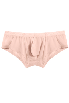 Cyber Comfy Men'S Ice Silk Broadside Boxers Inner Pants ( Apricot ) - Intl