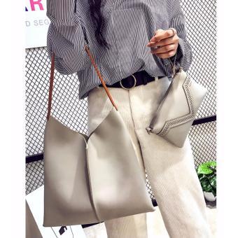 Bộ đôi túi và ví thời trang cao cấp(xám)