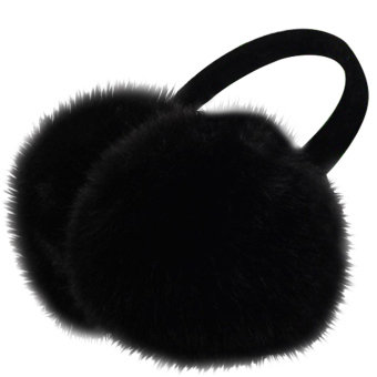 Unisex Women Men Faux Fox Fur Winter Warm Earmuff Earlap Winter Ear Muffs Warmer Muff Black - intl