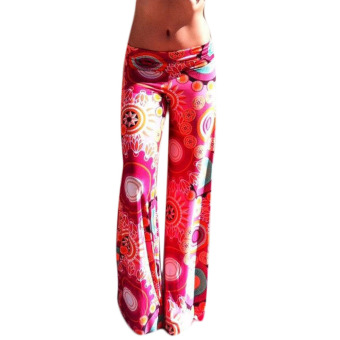 Fancyqube Casual High Waist Flare Wide Leg Long Pants 6062 - Intl