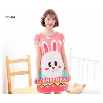 Đầm ngủ freesize họa tiết hoạt hình đáng yêu hình Thỏ