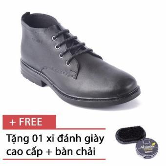 Giày da cổ lửng tăng chiều cao SMARTMEN GD1-04 (Đen) + Tặng 1 hộp xi đen và 1 bàn chải