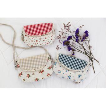 Túi đeo chéo họa tiết hoa nhí