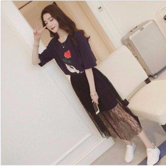 Đầm Maxi Hoa Hồng xinh xắn BEYEU1688 - BY4190(ĐEN)