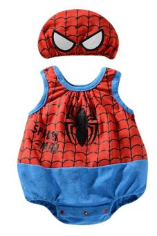 Bộ áo liền quần liền người nhện có Nón Family Shop TEH20 (Đỏ xanh)
