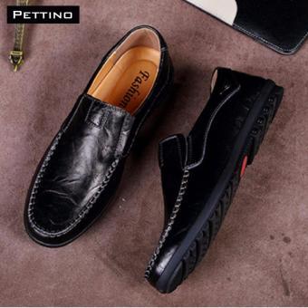 Giày Lười Nam Cao Cấp - Pettino GL08 (đen)