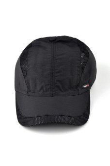 Moonar Fashion Men's Quick drying baseball cap (Black) - Intl