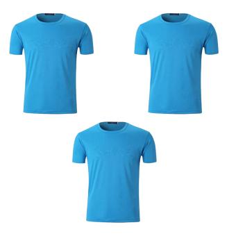 Bộ 3 áo thun nam micro mesh ZANI ZMA81824NB – Màu xanh