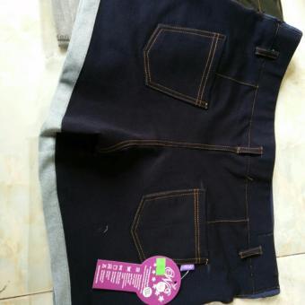 quần đùi bầu giả jean ( xanh và đen )